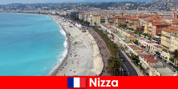 Опыт мечты пляж Ниццы во Франции