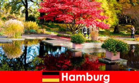 Гамбург - портовый город с большими парками для спокойного отдыха