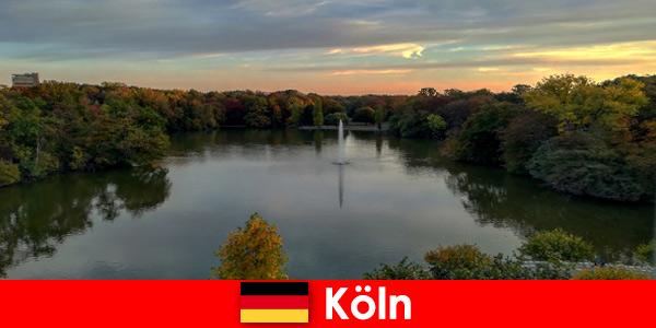 Путешествие на природе по лесам, горам и озерам в природных парках Кельна, Германия