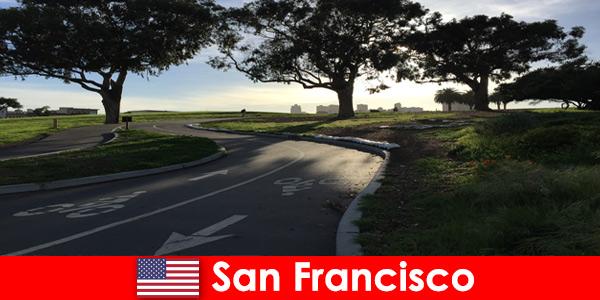 Исследовательский тур для иностранцев на велосипеде по Сан-Франциско, США