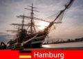 Германия Высадка в порту Гамбурга на рыбный рынок для гурманов.