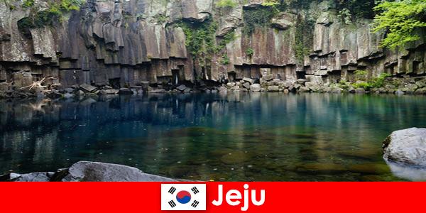 Экзотическое дальнее путешествие по красивым вулканическим ландшафтам Чеджу, Южная Корея